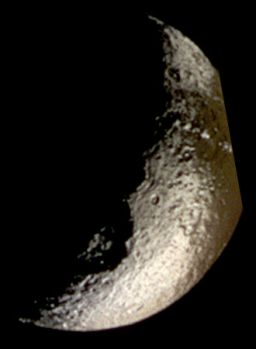 Iapetus in false color