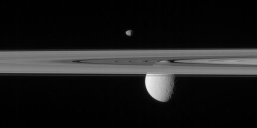 Janus, Rhea, and the rings