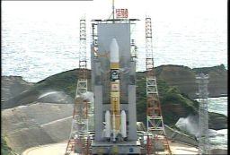 Kaguya on the launch pad