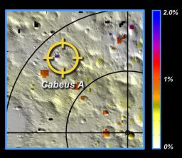 Water concentrations near the lunar south pole