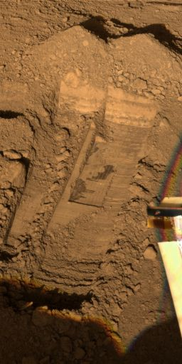 Snow White trenches on sol 32