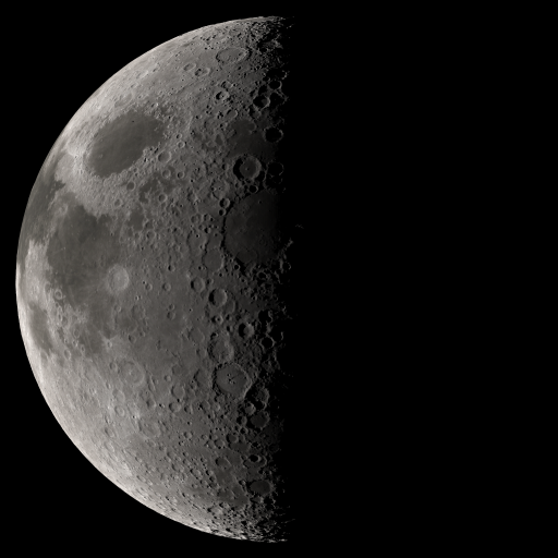 Simulated view of the Moon using Kaguya topographic data