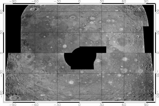 Radar map of the nearside of the Moon