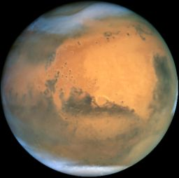 Mars at opposition in 2001