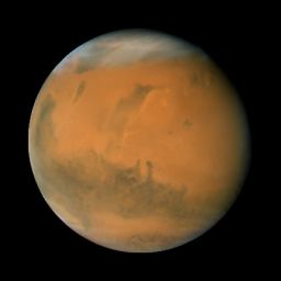 Mars during the 2007 opposition: longitude 140°