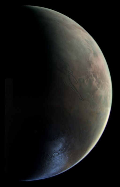 Viking Orbiter approaches Mars