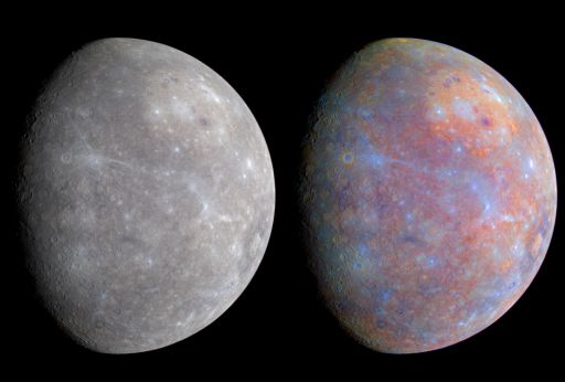 Mercury's colors