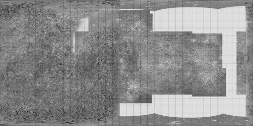 Mariner 10 and Arecibo map of Mercury