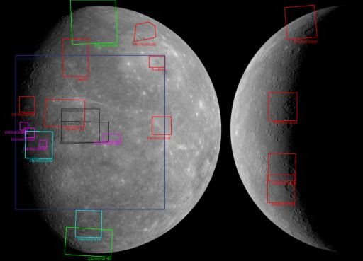 MESSENGER images released as of March 13, 2008