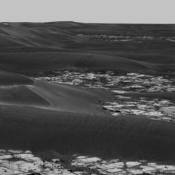 Opportunity panorama of Erebus Crater