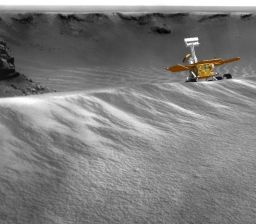 Simulated view of Opportunity's 'toe dip'