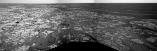 Opportunity's view on sol 1,713, just before conjunction