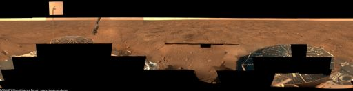 Progress on Phoenix' mission success panorama (the 'Peter Pan') to sol 32