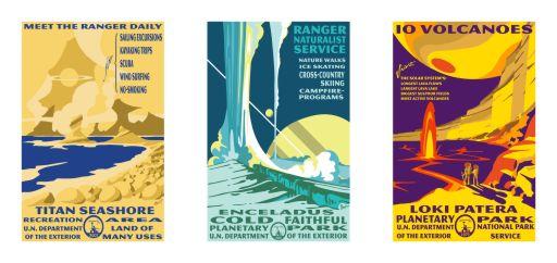Tyler Nordgren's 'Planetary Park' posters