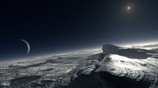 Pluto's icy surface
