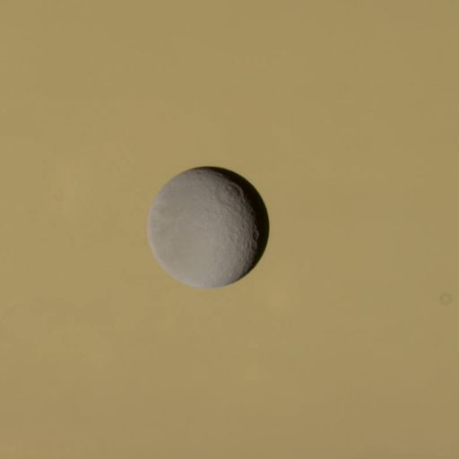 Rhea against Saturn