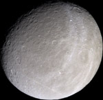 Rhea at a scale of 10 km/pixel