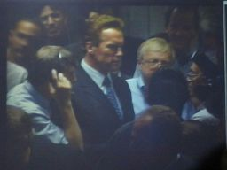 Steve Squyres, Governor Schwartzenegger and Ed Weiler Listen for More News
