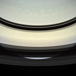 View of Saturn from Cassini at apoapsis