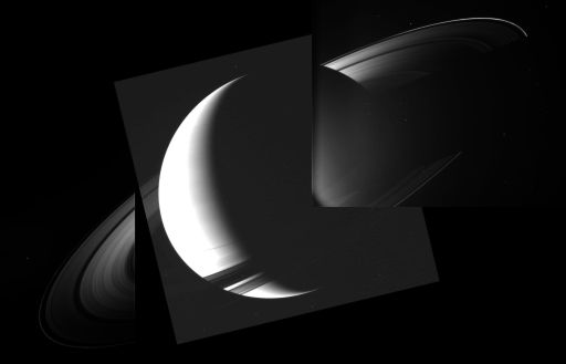 Saturnshine on the rings near equinox