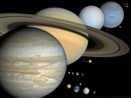 Scale solar system presentation slide