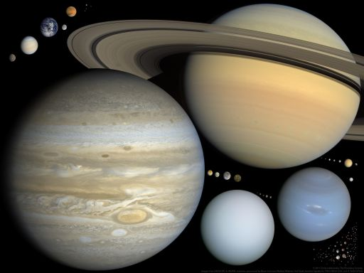 Scale solar system presentation slide (version 2)