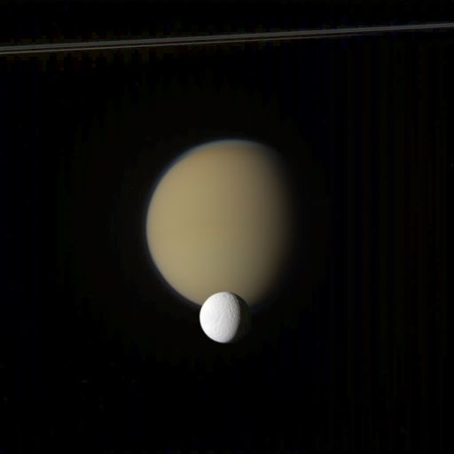 Titan and Tethys
