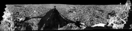 Lunar Surveyor 1 Panorama: Flamsteed region in Oceanus Procellarum, June 1966
