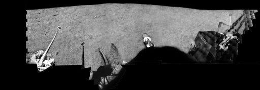 Lunar Surveyor 3 Panorama: Mare Insularum, April 1967