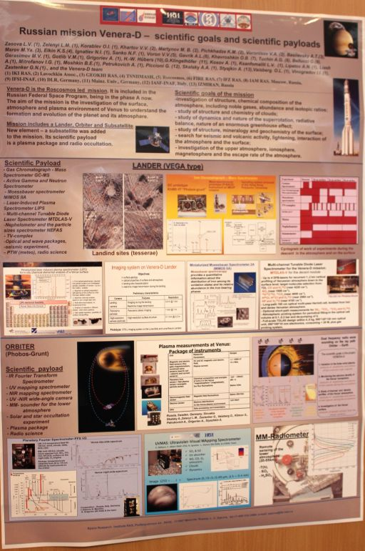 Poster on Venera-D mission presented at DPS/EPSC 2011