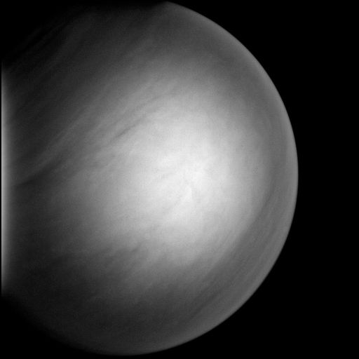 Venus in MESSENGER's forward view (high-pass filtered version)