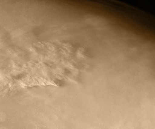 Viking 1 observes a dust storm and Phobos' shadow