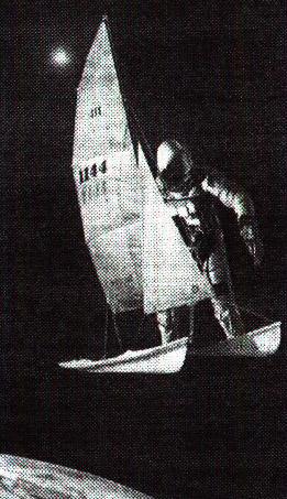 Astronaut on a catamaran