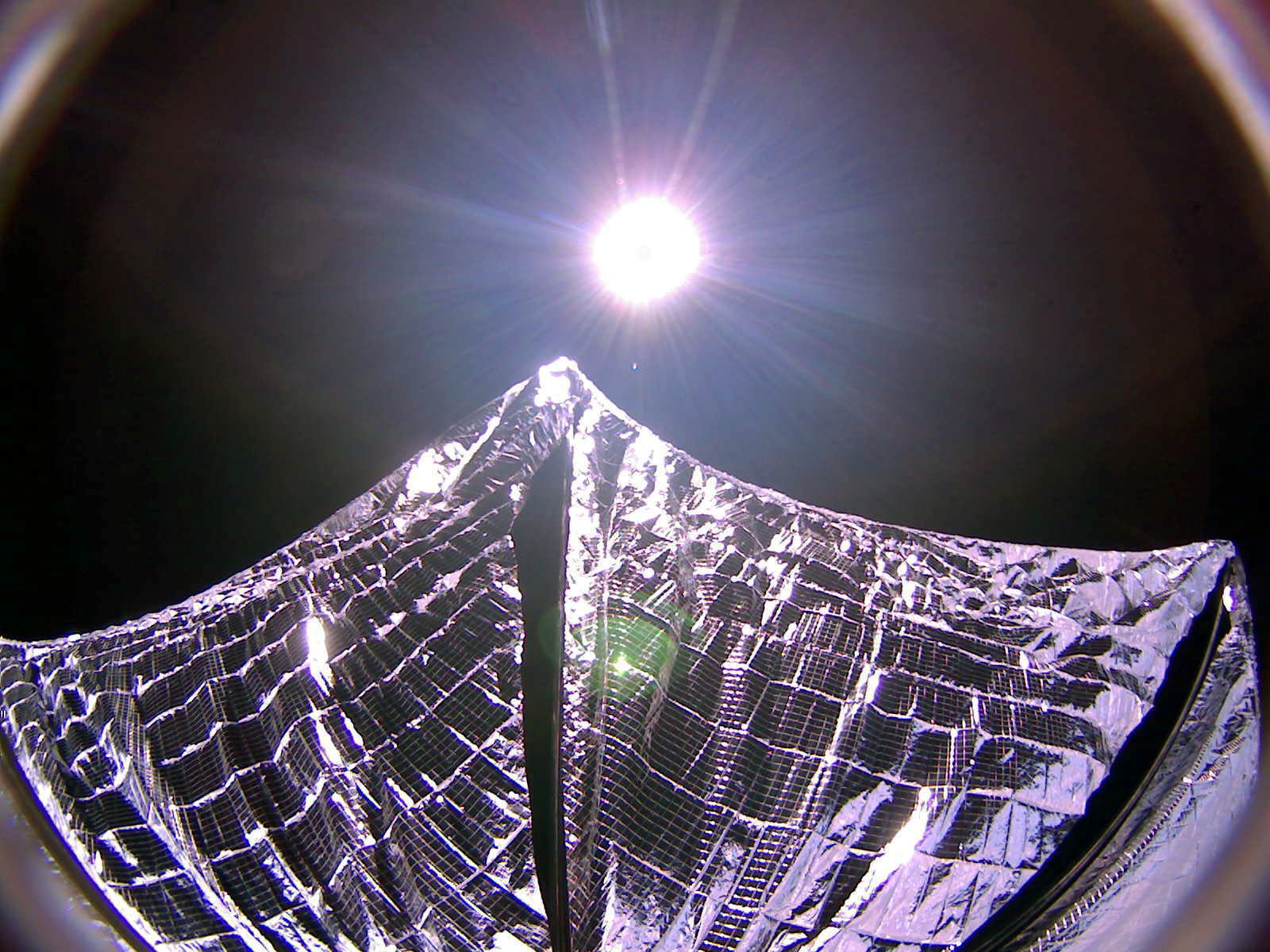 LightSail with solar sails deployed