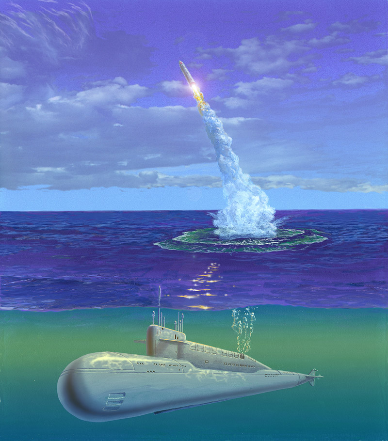 rocket launch from a submarine
