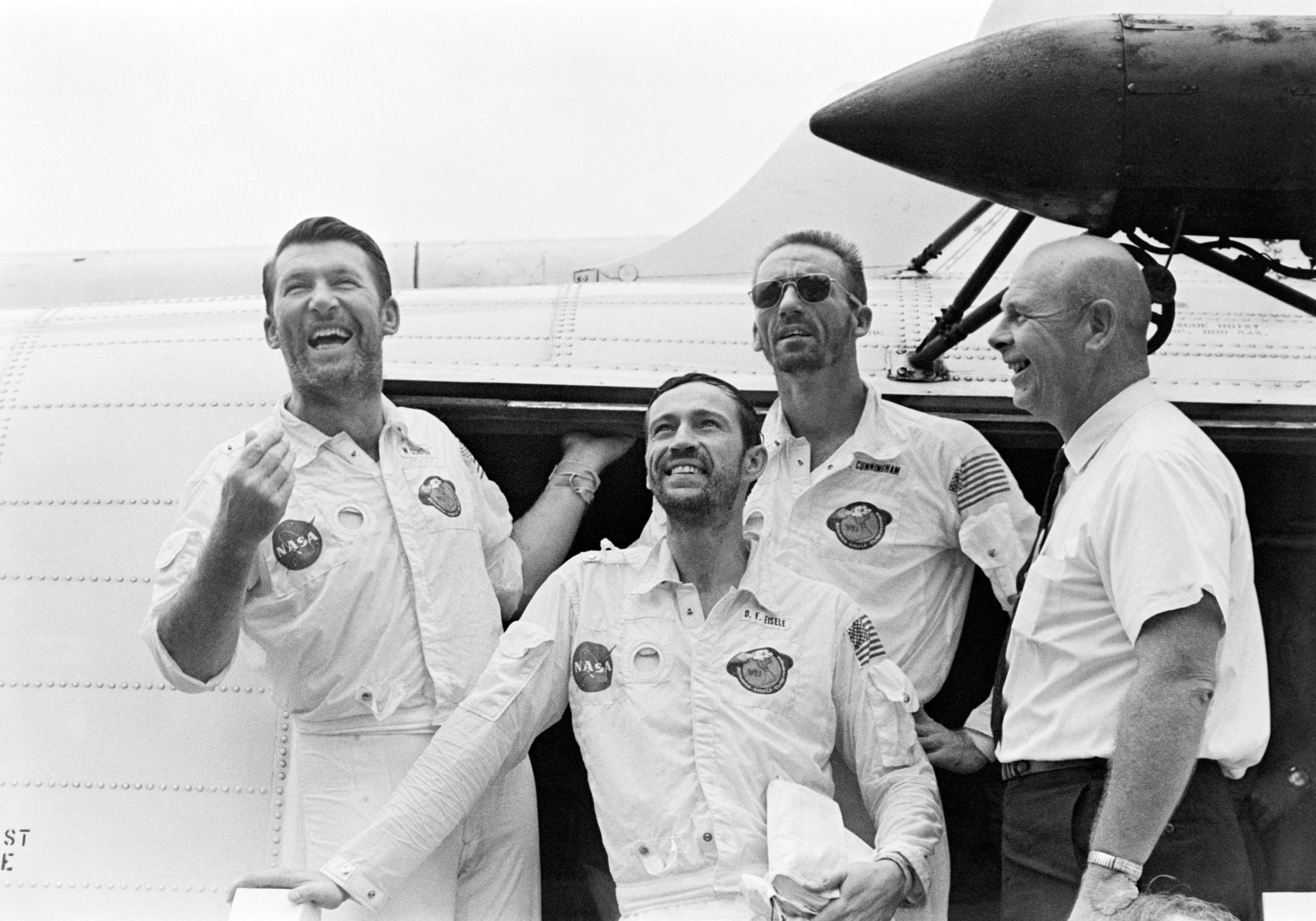 Apollo 7 crew after recovery