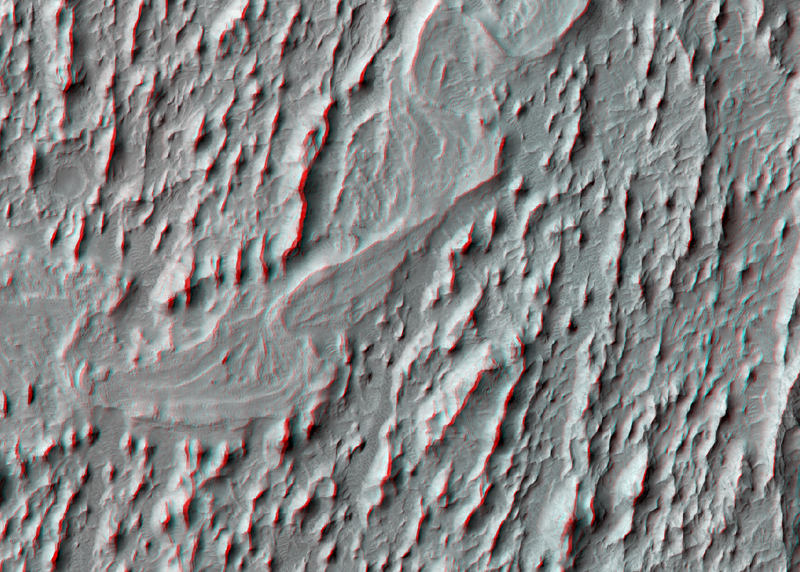 Meanders in ridge form in Zephyria region