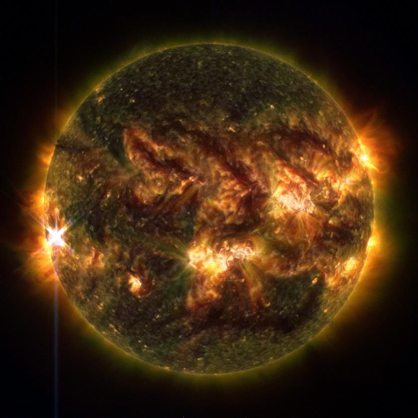 X-class solar flare, October 25, 2013