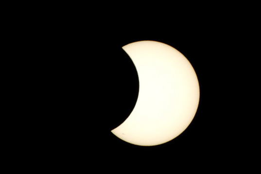 Partial solar eclipse of 9 May 2013 as viewed from Hawaii