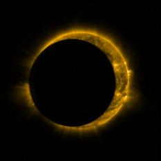 Proba-2 partial solar eclipse