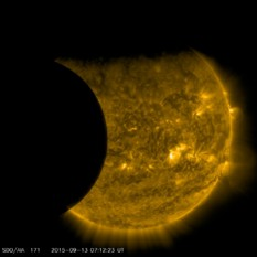 SDO partial solar eclipse