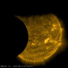 SDO partial solar eclipse