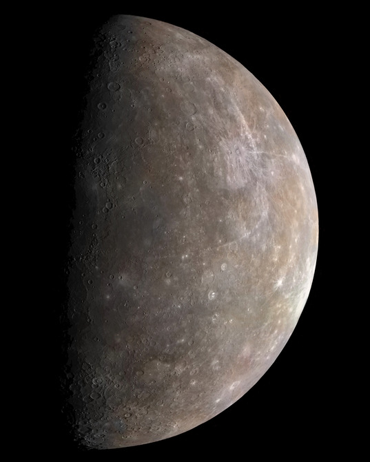 Mercury in color from Mariner 10