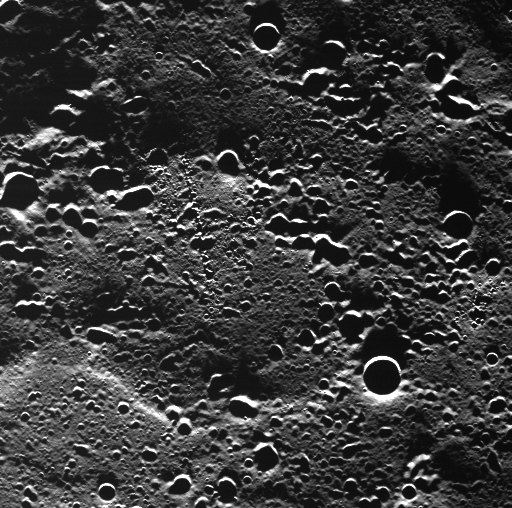 MESSENGER view of terrain near Mercury's north pole