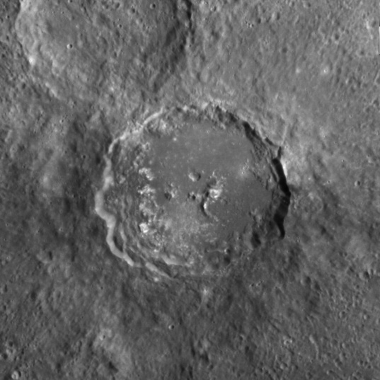 Half-hollowed crater