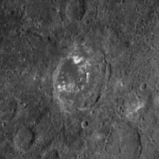 Mariner view of the crater Zeami