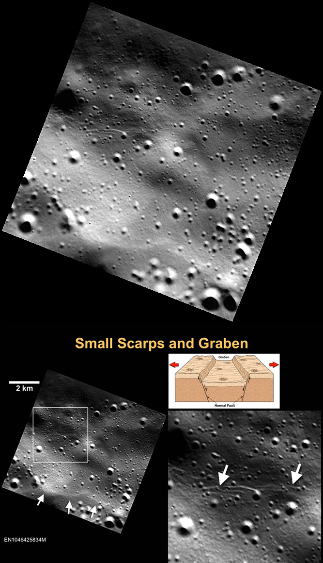 Very young graben on Mercury