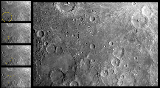 Complex cratering relationships on Mercury