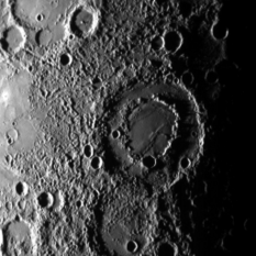 Caravaggio double-ring basin on Mercury