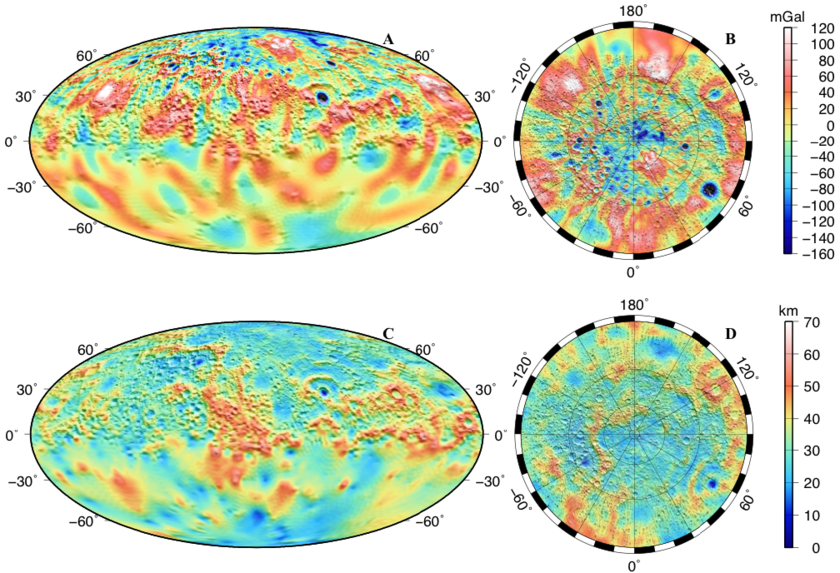 Mercury's gravity field and crustal thickness from MESSENGER